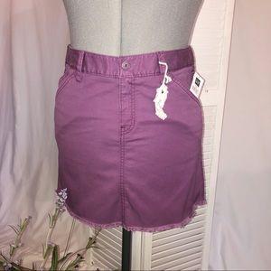 NWT! Gap purple frayed mini skirt. Too cute!
